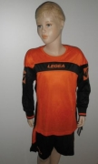 Legea-Trikot-Sets - Oviedo  orange / schwarz 2XS